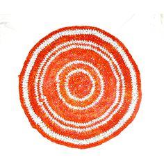 orange colored DIY Crochet Round Rag Rug Mat Bathroom Eco friendly (€30) ❤ liked on Polyvore featuring integritytt