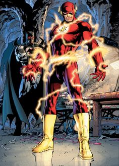 The Flash and Flashpoint Batman in  Flashpoint #3 by Andy Kubert