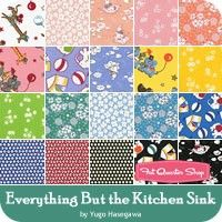 everything but the kitchen sink fabric retro 30 s child smile by lecien fabrics quilt fabric 9649