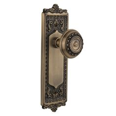 Nostalgic Warehouse Meadows Double Dummy Door Knob with Egg and Dart Plate Finish: Unlacquered Brass
