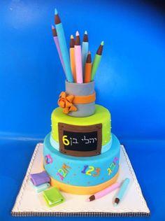 Teacher's desk cake