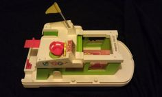 The millennium falcon of my sandbox . Fisher Price 1970s Vintage Toy Happy Houseboat by MirandasMix, $15.00