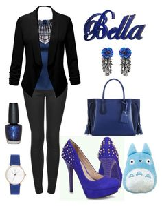 """""""Blue beutifull"""" by daniellecarso on Polyvore featuring Topshop, Longchamp, Forest of Chintz and OPI"""