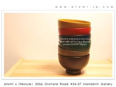 Loving the bowls, now available in atomi.  Visit us at 333a Orchard Road #04-27 Mandarin Gallery Singapore 238897