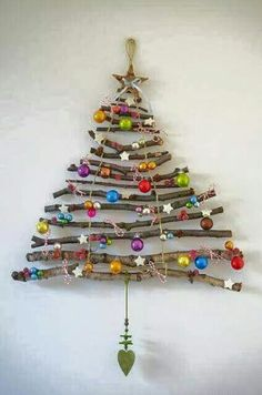 Wall hung Christmas tree