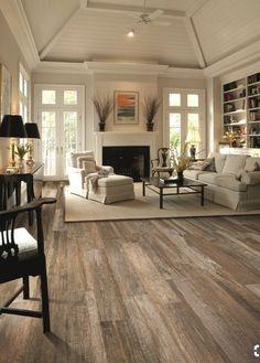 Lovely This Porcelain Tile Looks Like Real Wood! Amazing! Rustic Hardwood Floors,  Modern Wood
