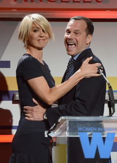 BEVERLY HILLS, CA - JUNE 12:  Host Jenna Elfman (L) and actor Bill Paxton onstage at the 2012 Women In Film Crystal   Lucy Awards held at The Beverly Hilton Hotel on June 12, 2012 in Beverly Hills, California.  (Photo by Michael Buckner/Getty Images For Women In Film Crystal   Lucy Awards) via @AOL_Lifestyle Read more: https://www.aol.com/article/entertainment/2017/02/26/peoples-court-judge-joseph-wapner-dead-at-97/21722083/?a_dgi=aolshare_pinterest#fullscreen