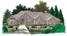 New American House Plan with 3089 Square Feet and 4 Bedrooms from Dream Home Source   House Plan Code DHSW49365