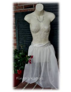 One of a kind  Decorated Mannequin. Lace applique for vintage wedding or boutique decor by FindersKeepers