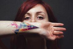 colored tattoo, its creative, colorful and fun...