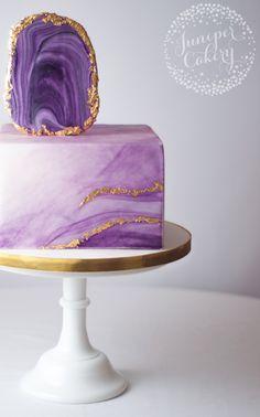 Learn how to create a beautiful agate cake