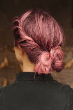 Rose pink hair with darker roots- no nasty regrowth line!