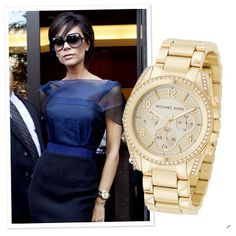 """Oversize Watch  NICOLE SAYS  """"A watch is as much an accessory as it is a timepiece. A gold watch is a great way to dress an outfit up—try leaving it loose so it looks like a bracelet."""""""