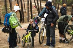 Future DH riders in the making!! It was great to see both children and parents at the event.
