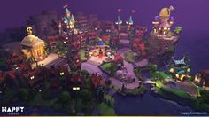 Village for Haunted Island (mobile), Happy Tuesday on ArtStation at https://www.artstation.com/artwork/18e82