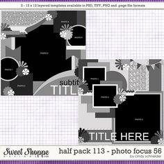Cindy's Layered Templates - Half Pack 113: Photo Focus 56 by Cindy Schneider