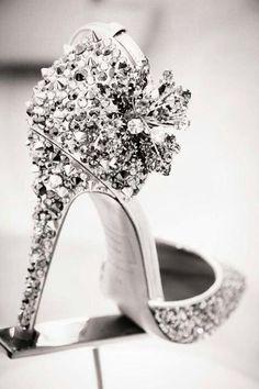 Diamond shoes.