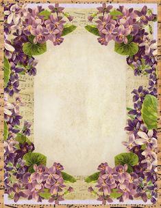 Lilac & Lavender: Sweet Violets Stationery with music sheet. Papel Vintage, Vintage Diy, Vintage Labels, Vintage Ephemera, Vintage Cards, Vintage Paper, Vintage Images, Vintage Style, Pocket Letter