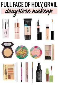 Full face of holy grail makeup - the best drugstore makeup #makeup #beautyblogger #drugstoremakeup #makeuptutorial via @mego