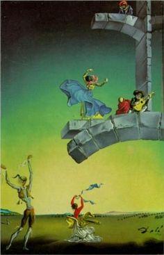 Untitled (Spanish Dances in a Landscape) - Dali Salvador Salvador Dali Paintings, Art Visionnaire, Spanish Dance, Surrealism Painting, Spanish Artists, Gaudi, Pablo Picasso, Surreal Art, Famous Artists