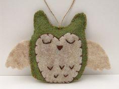 Owl Ornament  Felt Owl Ornament Wedding Favor by NatesMommyMadeIt, $9.50
