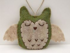 Owl holiday ornament