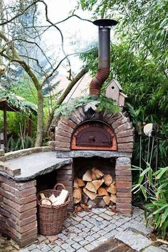 If you enjoy outdoor entertaining and cooking up a storm for your guests, then turn up the heat in your outdoor kitchen with the addition of a pizza oven. Outdoor Rooms, Outdoor Gardens, Outdoor Living, Outdoor Decor, Rustic Outdoor, Outdoor Kitchens, Outdoor Showers, Outdoor Patios, Outdoor Oven