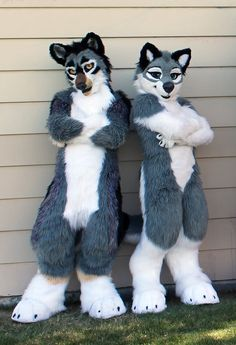 Two Cool Wuffs by WindWo1f.deviantart.com on @DeviantArt