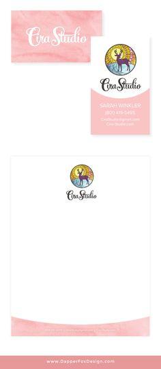 Cira Studio Branding and Business Card Design by Dapper Fox Design // Website Design - Branding - Logo Design - Entrepreneur Blog and Resource