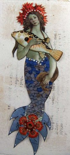 Mermaid pinned with Bazaart