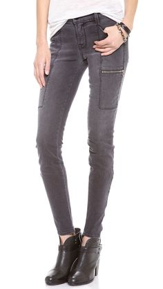 A fantastic grey skinny jean is always a good idea.  Goes with everything! J Brand 1348 Kassidy Super Skinny Jeans | The Fosters