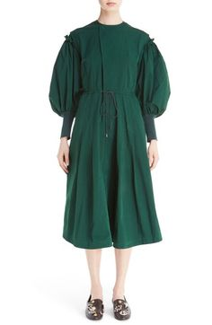 TOGA Mutton Sleeve Taffeta Dress available at #Nordstrom