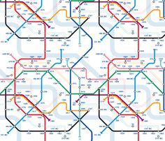Time Travel Map fabric by jenimp on Spoonflower - custom fabric