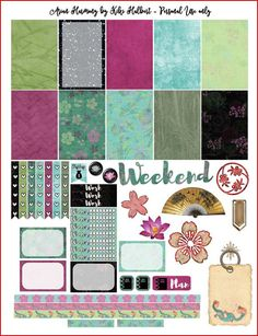 Asian Harmony Printable Stickers for The Happy Planner