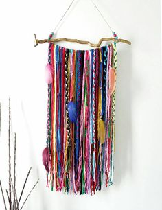 Yarn wall hanging for Bohemian Decor home, Boho Garland, Wall Tapestry Yarn wall hanging, Bohemian D Yarn Wall Art, Yarn Wall Hanging, Wall Hangings, Interior Design Minimalist, Minimalist Decor, Minimalist Kitchen, Minimalist Bedroom, Modern Minimalist, Boho Gypsy