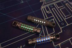 The GlowWorm. A Tritium vial keychain lantern milled out of Titanium.