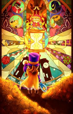 Some Games, Cool Costumes, Game Costumes, A Hat In Time, Turn Blue, Little Games, Fan Art, Illustrations, Girl With Hat