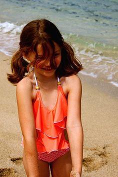 smiles are free… but they are worth a lot!!!  Kimi and Li Bikini 2015 Stella Suit in Creamsicle Kids | Baby | Girls | Bikinis | Swimwear | Swimsuits |Bathers