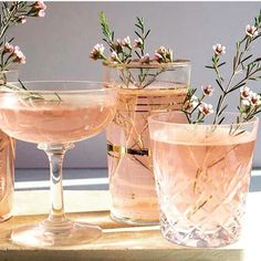 I love a soft pink cocktail. NJM