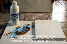 Decoupage-canvas