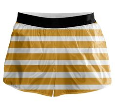 Checkout this design on Gold Stripes, Running Shorts, Custom Made, Sporty, Lady, Collection, Shopping, Design, Fashion