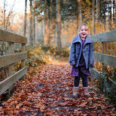Herfstfoto's van mijn kinderen in het Ulvenhoutse bos