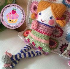 muñeca cuadrada crochet ganchillo doll