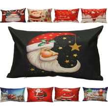 Almofadas decorativas Sofá Cintura Travesseiro Natal Lance Capa de Almofada Home Decor capa de almofada u61013(China)
