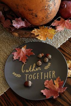 Gather Together Thanksgiving Plate- Fall In Love with Fall- Fall Inspiration Pics  Frosted Events  www.frostedevents.com
