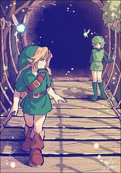 Legend of Zelda Ocarina of Time art > Link and Saria Farewell > Kokiri > Sage of Forest > Fairy > oot The Legend Of Zelda, Legend Of Zelda Memes, Legend Of Zelda Breath, Malon Zelda, Saria Zelda, Ocarina Of Times, Link Zelda, Wind Waker, Twilight Princess