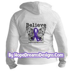 Hodgkin's Lymphoma Believe Butterfly Ribbon Shirts by www.hopedreamsdesigns.com Hodgkin's Lymphoma, Non Hodgkins Lymphoma, Awareness Ribbons, Cancer Awareness, Missing My Brother, Cancer Ribbons, Chiari Malformation, Ribbon Shirt, Encouragement Quotes