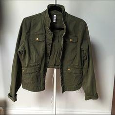 Army green jacket Really cute brand new condition jacket Xhilaration Jackets & Coats