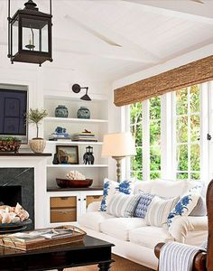 Rosa Beltran Design: A BLUE & WHITE AMERICANA STYLE LIVING ROOM (AND A CLAD HOME SALE!)