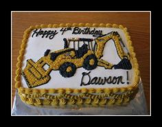 The Canadian Living Crazy Cakes Contest Backhoe Cake